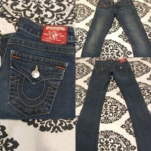 True Religion Section Becky Medium Wash Low Rise